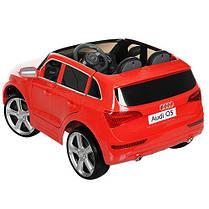 Детский электромобиль Audi Q5 M 3290 EBLR красный, мягкое сиденье, колеса EVA, амортизаторы, двери, пульт, фото 3