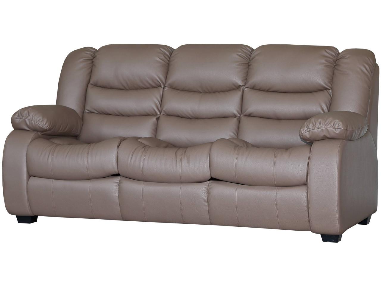 Шкіряний диван Ashley, не розкладний диван, м'який диван, меблі з шкіри, диван
