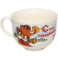 Чашка Аппетитка белая с деколью Приколы 500мл Славянск 50211
