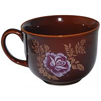 Чашка Аппетитка коричневая с деколью 550мл Славянск 50216