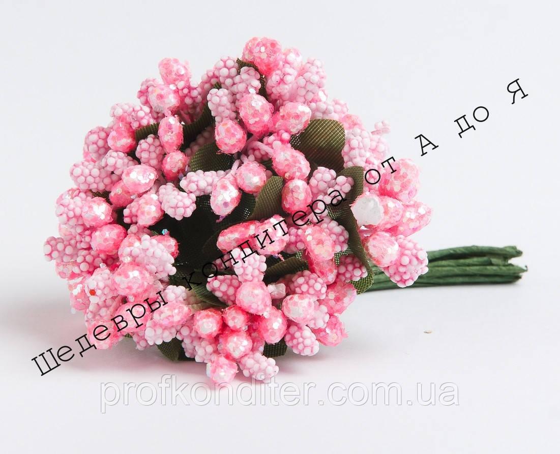 Тичинки Рожеві з блиском на основі пінопластової