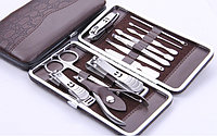 Маникюрный набор, 12 предметов в удобном футляре!!! Набор для маникюра и педикюра.