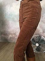 Джинсы вельвет с вышивкой