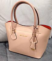 Стильная сумка Майкл Корс с  фирменным кошельком пудра