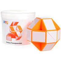 Змейка Рубика бело-оранжевая в боксе, фото 1