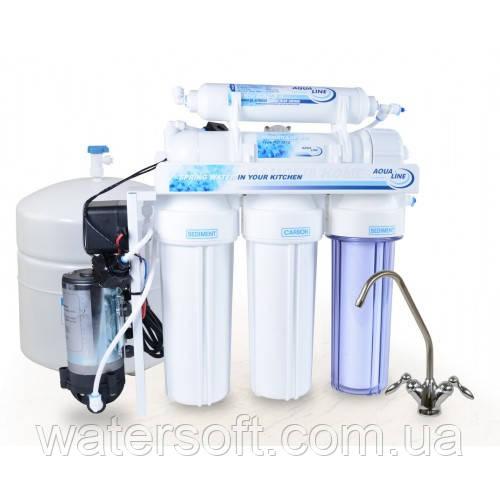 """Система обратного осмоса Aqualine RO-6 P - """"Watersoft"""" - чистая вода в каждый дом в Киеве"""