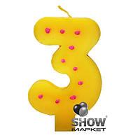 Свеча-цифра для украшения торта в ассортименте