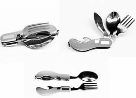 Розкладний Ножик (виделка + ложка) туристичний