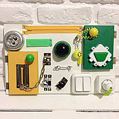 "Развивающая доска для детей ""Busy Board"", по методики Монтессори, размер  40х25, материал ДСП ламинированное"