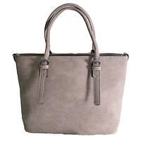 Брендовая женская сумка Tory Burch коричневый нубук