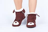 "Флисовые тапочки-сапожки ""Мишка"" (детские, размер 18-32)"