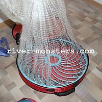 Кастинговая сеть 5 метров (самозабрасыватель) с кольцом фризби