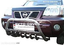 Кенгурятник Nissan X-Trail T30 с логотипом
