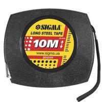 Рулетка сТальная лента 10м*10мм (черная)