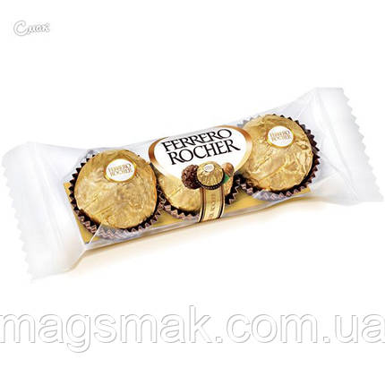 Конфеты Ferrero Rocher / Ферреро Роше 3шт., 37,5г, фото 2