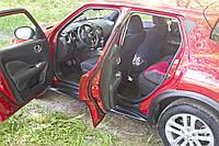 Накладки на внутренние пороги дверей Nissan Juke 2015- (YF15 рестайлинг) Нисан Жук