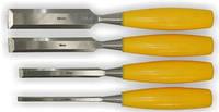 Набор стамесок 4шт (6,12,18,25мм) пластиковая Ручка