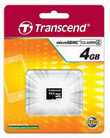 MicroSD карта 4GB Transcend