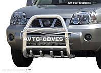 Защита переднего бампера Nissan X-Trail T30 2003-2006 (п.к. RR04)