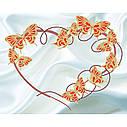Схема на ткани для вышивания бисером Бабочки (на белом), фото 2