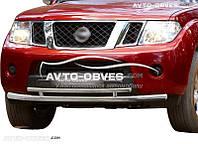 Двойная защита переднего бампера для Nissan Pathfinder 2010-2014