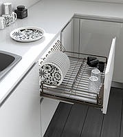 Inoxa, серія Ellite, висувна сушка для посуди, тумба 900мм, глибина 450мм, код 5703E/90-45