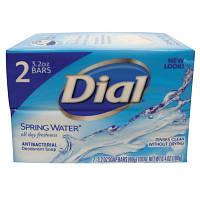 Dial Spring Water Antibacterial Deodorant Soap / Родниковая вода Антибактериальный 2х90G (США-Орыгинал)