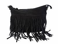 Женская замшевая сумка с лапшой   №1550-1