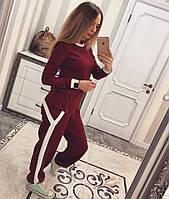 Женский спортивный костюм с змейкой Бордовый, С