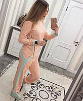 Женский спортивный костюм с змейкой, 2 кармана
