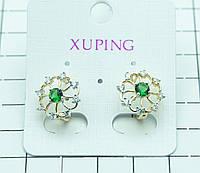 413. Новые серьги Xuping Jewelry- бижутерия из позолоты с цирконием. Серьги XP