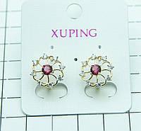 414. Серьги Xuping Jewelry- бижутерия из позолоты с цирконием. Серьги XP