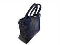 Женская замшевая сумка (синяя)  №1695