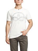Мужская футболка LC Waikiki белого цвета с надписью на груди XL