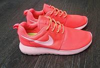 Кроссовки Nike Roshe Run женские ярко розовые 6026