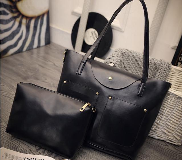 Большая вместительная сумка+клатч, набор