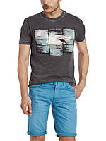 Мужская футболка LC Waikiki темно-серого цвета с картинкой на груди