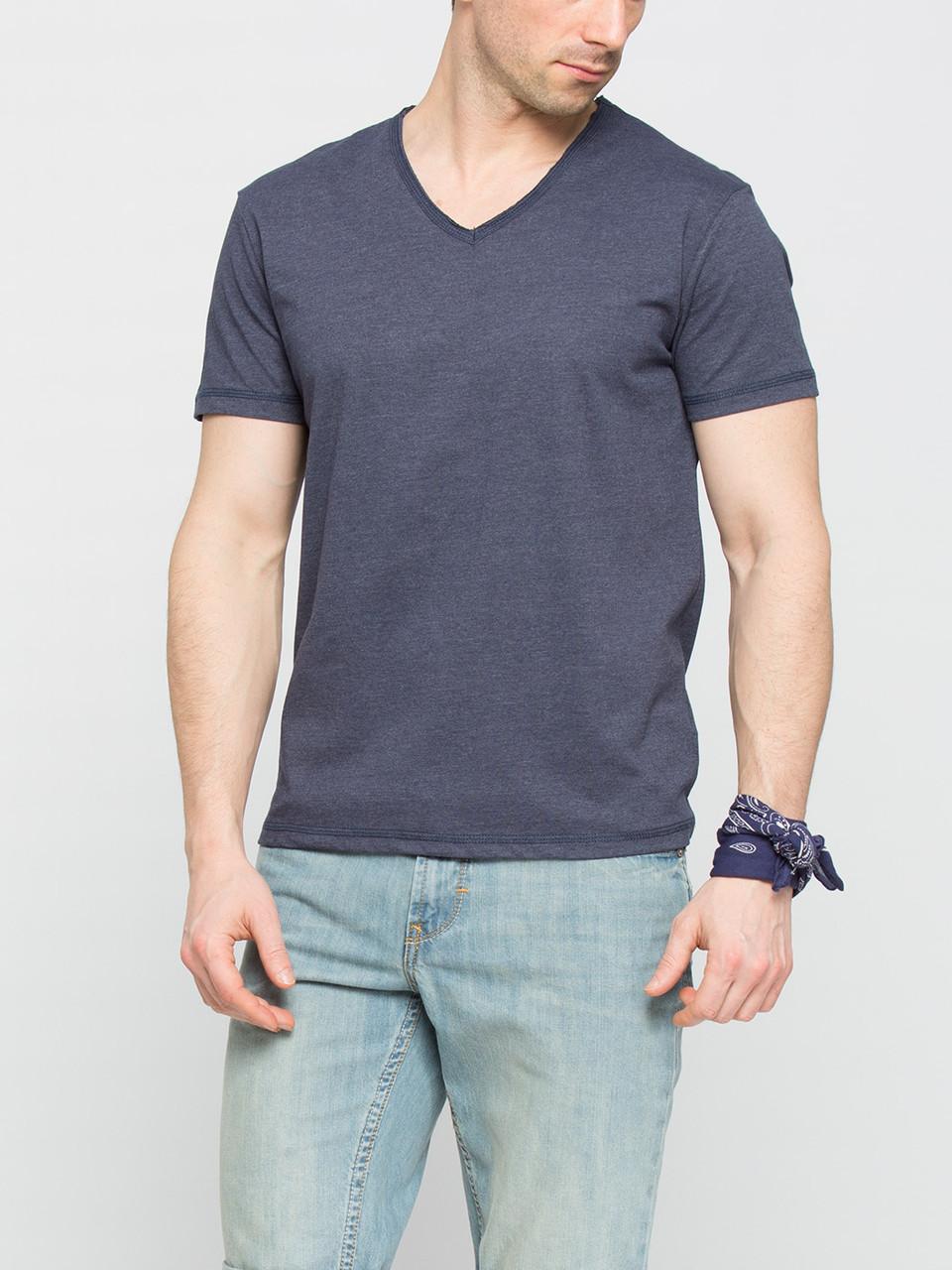 Мужская футболка LC Waikiki темно-синего цвета