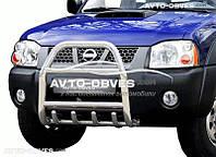 Защита переднего бампера Nissan Patrol 1998-2010