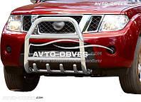 Защита переднего бампера Nissan Pathfinder 2005-2014