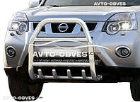 Защитная дуга переднего бампера Nissan X-Trail T31 2007-2014 (п.к. RR04)