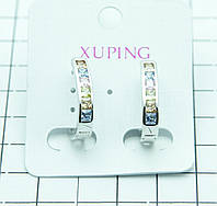 419. Xuping Jewelry- позолоченная бижутерия, серьги с цирконием. Серьги XP