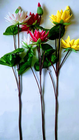 Искусственный лотос.Ветка декоративного лотоса., фото 2