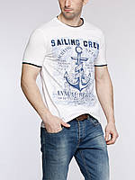 Мужская футболка белая LC Waikiki /ЛС Вайкики с надписью Sailing Crew, фото 1