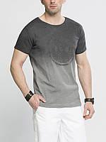 Мужская футболка LC Waikiki серого цвета с надписью и картиной на груди