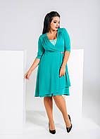 Красивое женское платье-батал (в расцветках)