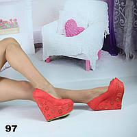 Туфли женские на высокой платформе