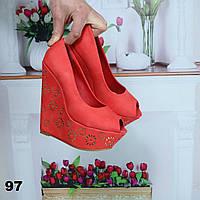 Туфли женские на высокой платформе 97