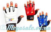 Перчатки для тхэквондо с фиксатором запястья(защита кисти) WTF 2310: 3 цвета, XS-XL
