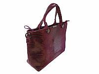 Женская замшевая сумка (бордовая)  №1695